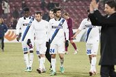 CLUJ-NAPOCA, ROMANIA - FEBRUARY 21: inter Milan players celebrationg after scoring a goal in UEFA Eu
