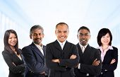 stock photo of malay  - Asian business person in multiracial - JPG