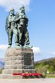 Commando Memorial at Spean Bridge, Highlands, Scotland poster