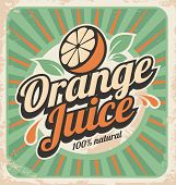 picture of 1950s  - Orange juice retro poster - JPG