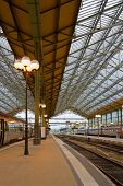 foto of gare  - old modern style railway station in Tours - JPG