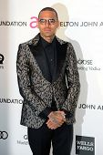 LOS ANGELES - FEB 24:  Chris Brown arrives at the Elton John Aids Foundation 21st Academy Awards Vie