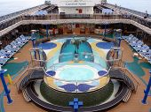 Pool Deck Of Cruise Ship