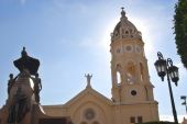 foto of bolivar  - Wide angle picture of a Panama Cathedral - JPG