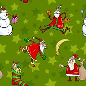 Christmas Cartoon Seamless Pattern Design