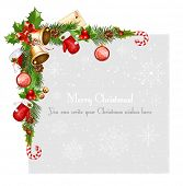 pic of candy cane border  - Decorative border from a traditional  Christmas objects - JPG