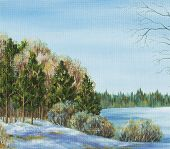 Постер, плакат: Picture landscape Russia