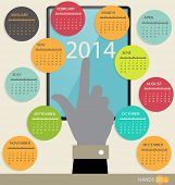 stock photo of august calendar  - 2014 year calendar - JPG