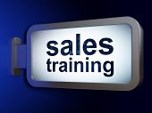 Marketing concept: Sales Training on billboard background