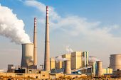 stock photo of chimney  - Chimney of power plant - JPG
