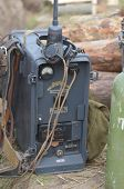 KIEV, UKRAINE -NOV 3 German military communication equipment during historical reenactment of WWII,