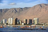 picture of pampa  - Iquique behind a huge dune northern Chile Tarapac - JPG