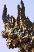 picture of siddhartha  - A dragon statue outside of a temple in Thailand - JPG