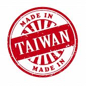 Made In Taiwan Grunge Rubber Stamp