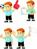 Red Head Boy Customizable Mascot