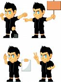 Spiky Rocker Boy Customizable Mascot 15