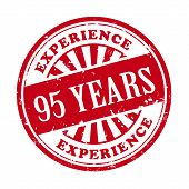 95 Years Experience Grunge Rubber Stamp