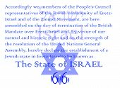 Declaration of independence text for israel's 66 celebration