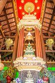picture of jade  - Green jade buddha statue in Chiang Rai Thailand - JPG