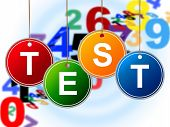 stock photo of tutor  - Education Test Showing Train Questionnaire And Tutoring - JPG