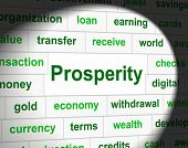 stock photo of prosperity  - Prosperity Prosper Showing Money Profits And Finance - JPG