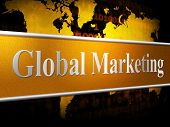 stock photo of globalization  - Global Marketing Representing Sales Selling And Globalize - JPG