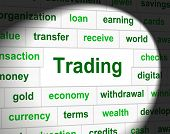 picture of trade  - Trading Trade Indicating Selling Commercial And Biz - JPG