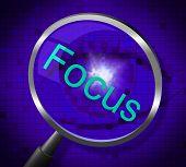 picture of concentration  - Magnifier Focus Representing Searches Concentrate And Concentration - JPG