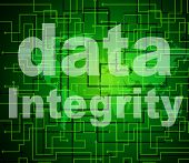 stock photo of integrity  - Data Integrity Indicating Knowledge Truthfulness And Reliable - JPG