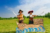 image of pirate sword  - Two African children - JPG