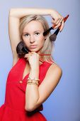 stock photo of makeover  - Cosmetic beauty procedures and makeover concept - JPG
