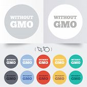 stock photo of modifier  - No GMO sign icon - JPG