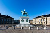 stock photo of v-day  - Amalienborg is the residence of the Danish Royal Family - JPG