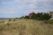 foto of bluff  - Part of Cape May area forms a bluff overlooking the ocean which is lined with high end real estate - JPG