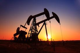 image of fuel pump  - Oil field scene - JPG