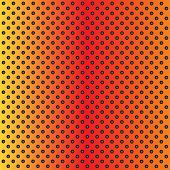 foto of metal grate  - Concept conceptual orange abstract metal stainless steel aluminum perforated pattern texture mesh background as metaphor to industrial - JPG