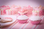 picture of sugarpaste  - dessert table in pink at girls birthday party - JPG