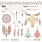 stock photo of indian culture  - Tribal Indian Elements - JPG