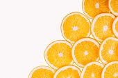 picture of orange-juice  - Orange Fruits Isolated On White Background - JPG