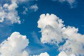 picture of stratus  - Cloudscape of bright blue sky - JPG