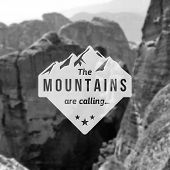 picture of mountain-high  - Mountain label with type design - JPG