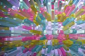 image of ombre  - colorful abstract geometric background with square extrude - JPG