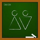pic of heterosexual couple  - Vector heterosexual couple iflat outline con - JPG