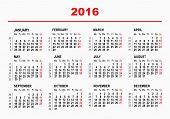 foto of monday  - 2016 Calendar template - JPG