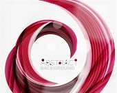 stock photo of slogan  - Vector swirl line abstract background - JPG