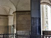stock photo of municipal  - Guastavino tile ceiling by the subway entrance under the Municipal Building in New York City - JPG