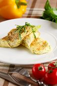 image of scrambled eggs  - Close - JPG