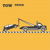 stock photo of wreckers  - Tow truck emblem - JPG