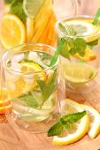 pic of iced-tea  - ice tea with citrus fruits - JPG