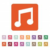 image of music symbol  - The music disk icon - JPG